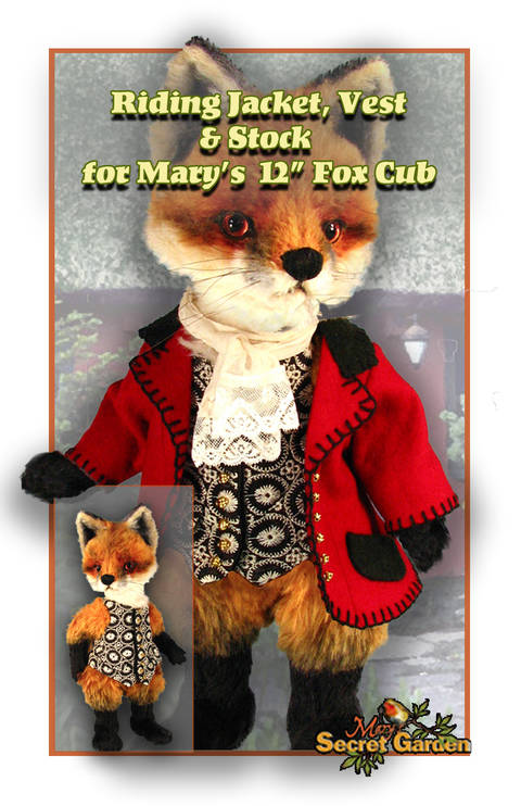Download 30 cm Fox clothing pattern, Doll Bear outfit, Fox Riding Jacket, Vest  immediately at Makerist