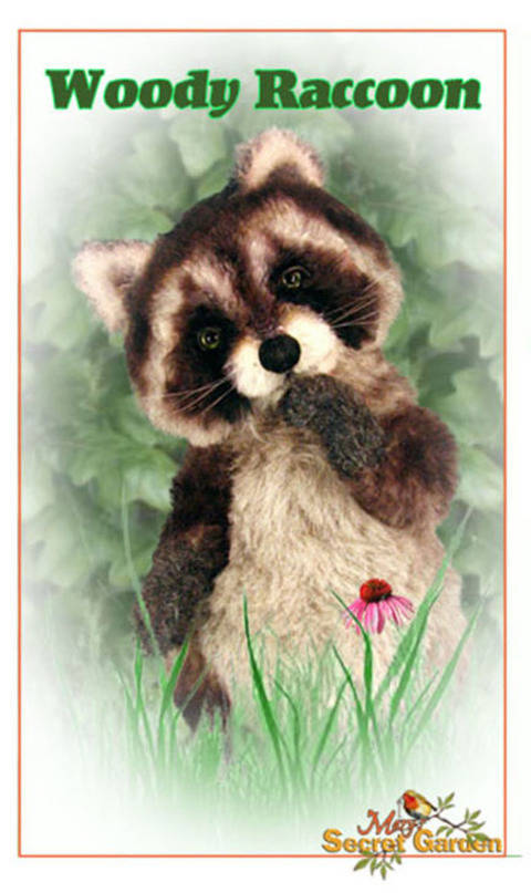 Download Plush Raccoon Sewing Pattern, Teddy Bear, Posable Raccoon Tutorial immediately at Makerist