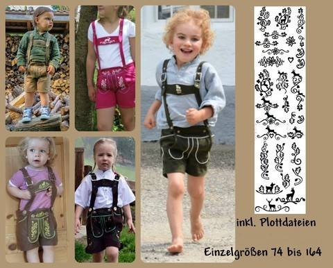 vegane Lederhose Beppi für Kinder Ebook + Plottdateien Trachtenhose bei Makerist sofort runterladen