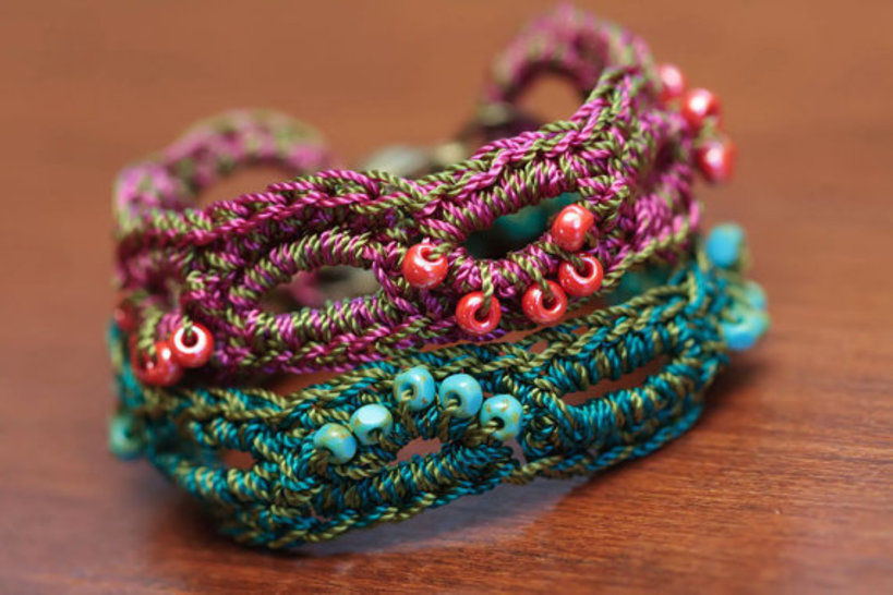 Crochet Loop Bracelet Pattern 39
