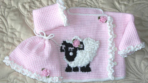 Baby Scottie Dog Sweater and Hat Tunisian Crochet Pattern