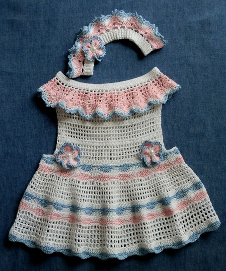 Download Baby Girl Sun Dress and Matching Le Petite Bandeau 12-18mo - Crochet Patterns immediately at Makerist