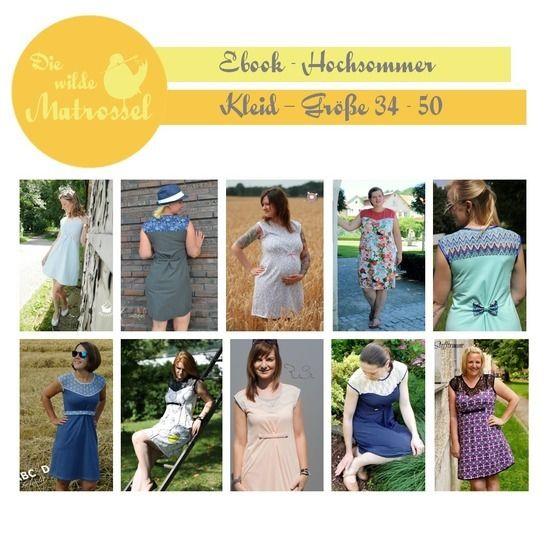 Ebook Hochsommer - Kleid Größe 34-50  - Nähanleitungen bei Makerist sofort runterladen