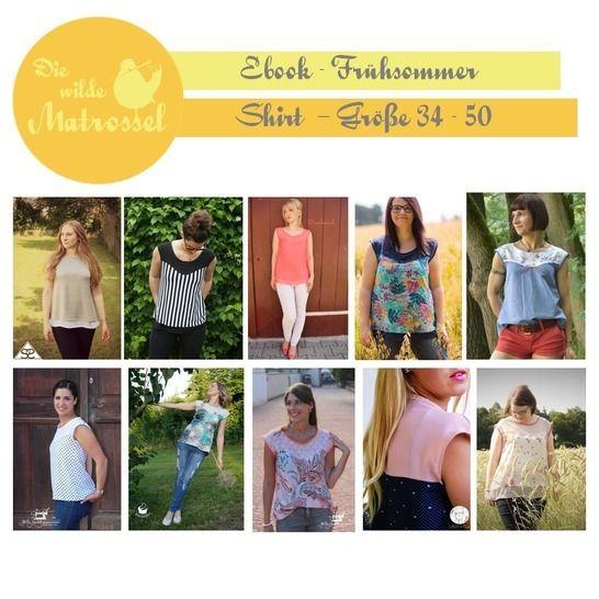 Ebook Frühsommer-Shirt Größe 34-50  - Nähanleitungen bei Makerist sofort runterladen
