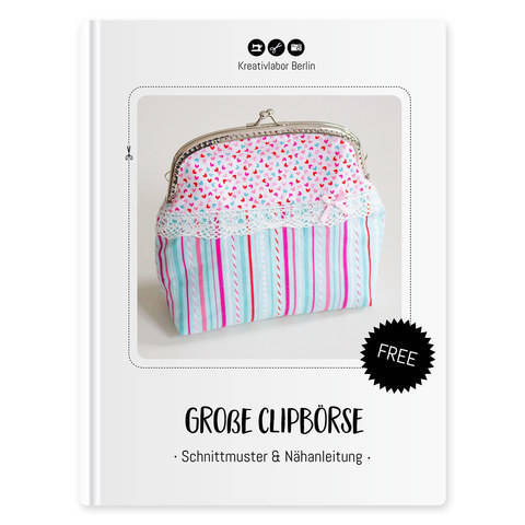Die Große Clipbörse: Eine kleine Handtasche o. Kosmetiktasche kostenlose Nähanleitung bei Makerist sofort runterladen