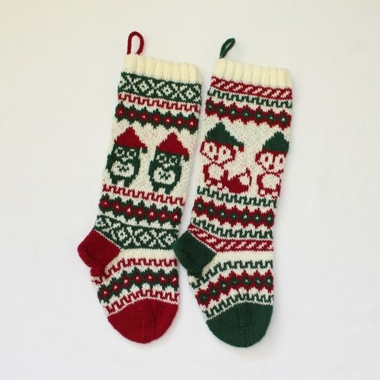 Download Christmas stocking - Santa Fox and Owl - Knitting Patterns immediately at Makerist