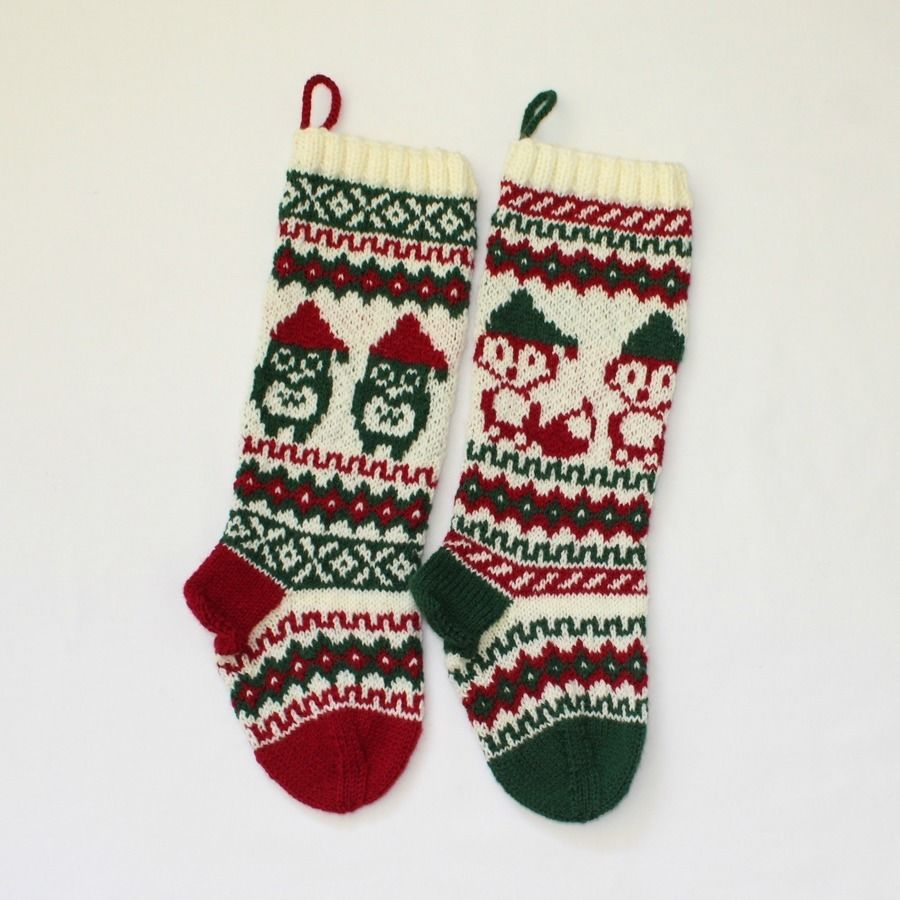 Christmas stocking santa fox and owl download christmas stocking santa fox and owl knitting patterns immediately at makerist bankloansurffo Choice Image