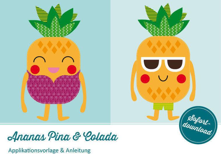 Applikation Ananas Pina & Colada Vorlage & Anleitung - Nähanleitungen bei Makerist sofort runterladen