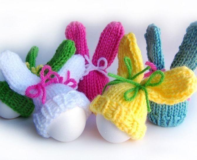 Download Bunny Egg Cozy, Easter Bunny Hat, Kitchen Decor, Knitting Pattern - Knitting Patterns immediately at Makerist