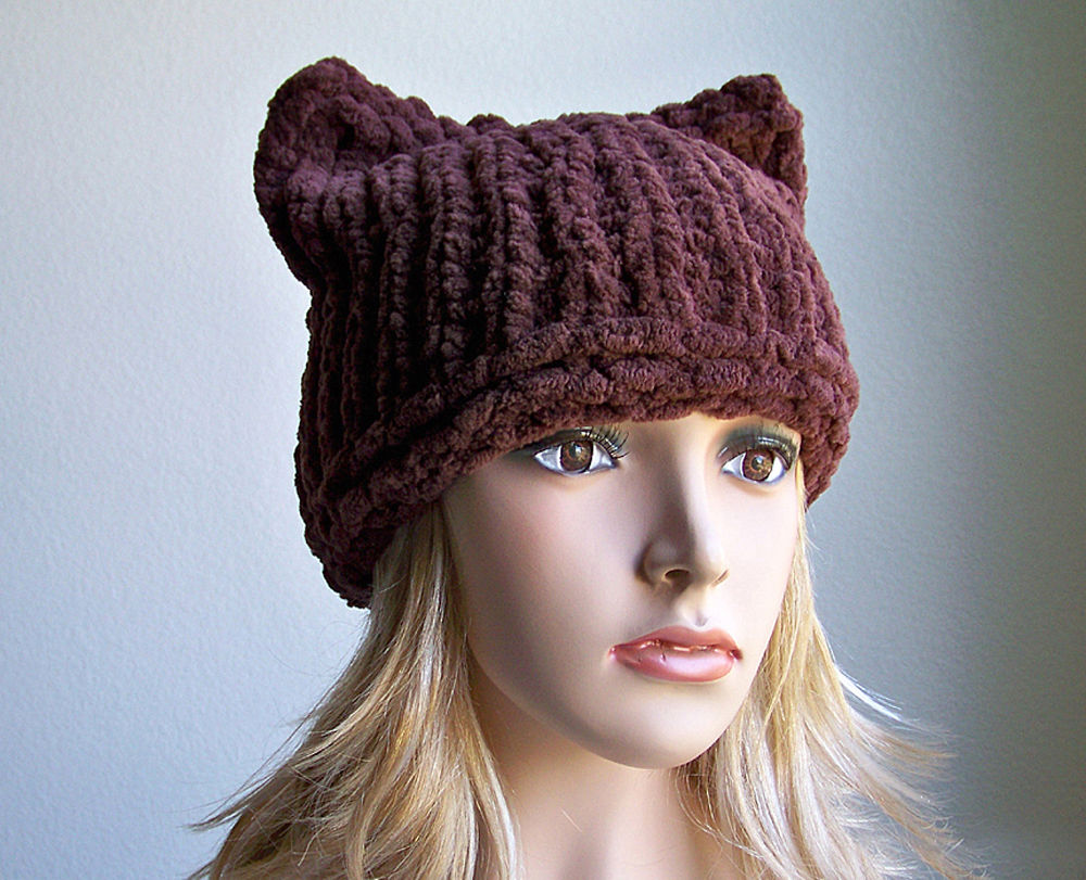 Chunky Hat, Cat Hat, Knitting Pattern