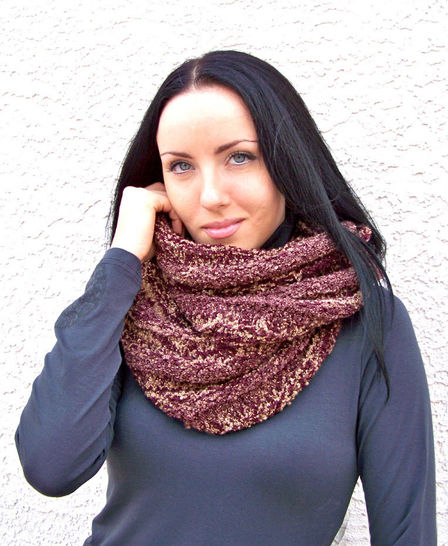 Download Infinity Scarf, Cowl Scarf, Knitting Pattern - Knitting Patterns immediately at Makerist