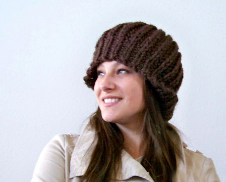 Download Slouchy Hat, Slouchy Beanie, Beret Hat - Knitting Patterns immediately at Makerist