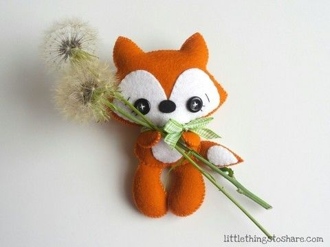 Download Tail Fox PDF pattern-Woodland animals toy-DIY-Baby's mobile toy pattern - Sewing Patterns immediately at Makerist