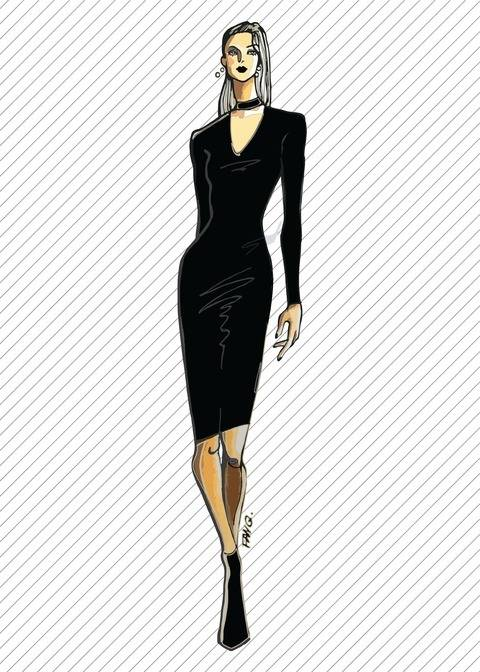 Download DR303 Bodycon cut-out dress - PDF sewing pattern immediately at Makerist