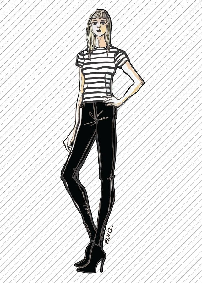 Skinny Stretch Jeans With High Waist & Zippers At Ankles - S