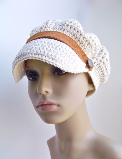 Download Crochet Newsboy Hat, Newsboy Cap, Adult Sizes - Crochet Patterns immediately at Makerist