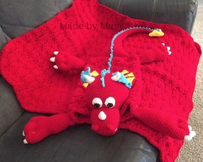 Download Maximus the Dragon Blanket Buddy - Crochet Patterns immediately at Makerist