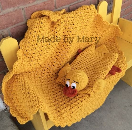 Download Billingsworth the Duck Blanket Buddy - Crochet Patterns immediately at Makerist