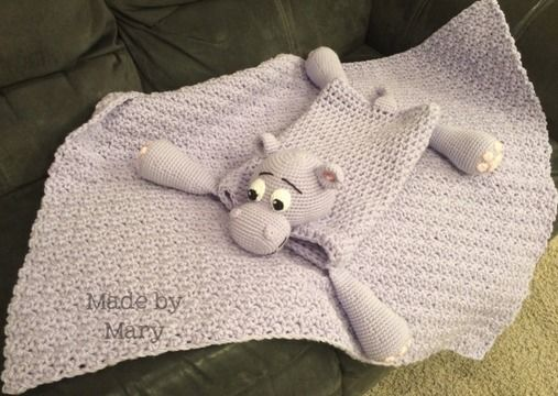 Download Harvey the Hippo Blanket Buddy - Crochet Patterns immediately at Makerist