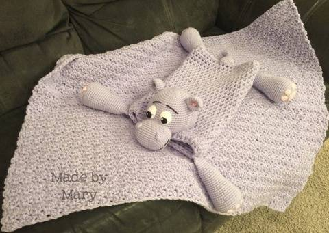 Download Harvey the Hippo Blanket Buddy immediately at Makerist