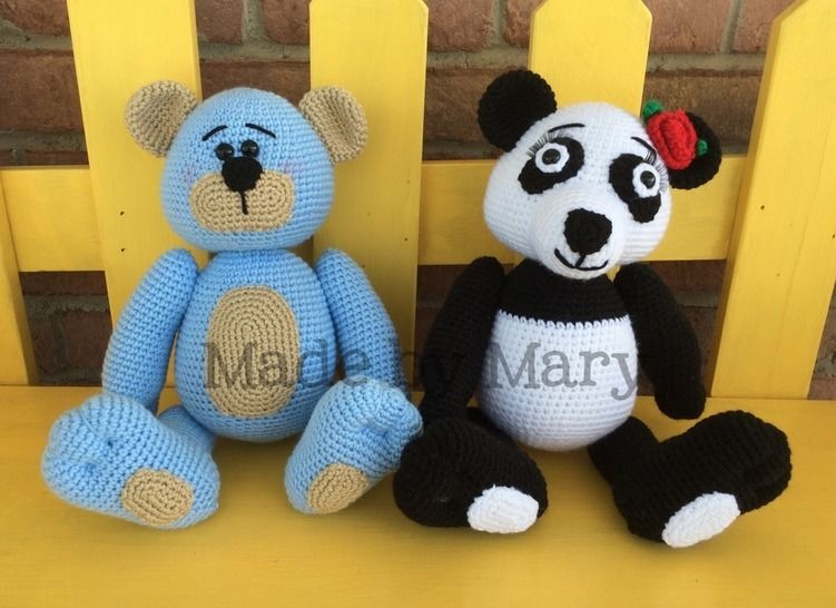 Download Piper the Panda and Bentley the Bear - Crochet Patterns immediately at Makerist