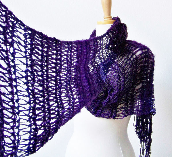 Download Womens Scarf, Lace Scarf - Knitting Patterns immediately at Makerist