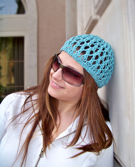 Download Knit Hat, Beanie Hat, Summer Hat, Mesh Hat - Knitting Patterns immediately at Makerist
