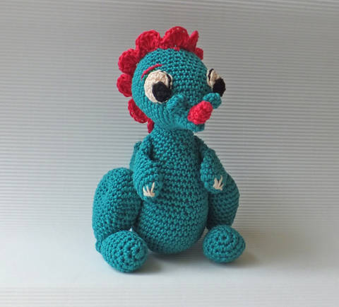 Download Amigurumi dinosaur - crochet pattern immediately at Makerist