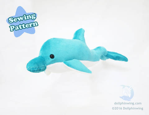 Download Dolphin Plushie Sewing Pattern immediately at Makerist