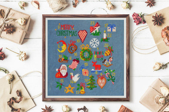 Download advent calendar cross stitch - Embroidery Patterns immediately at Makerist