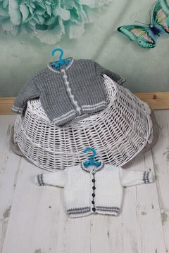 Download KP344 Morris Cardigan Baby Knitting Pattern 2 sizes #344 - Knitting Patterns immediately at Makerist