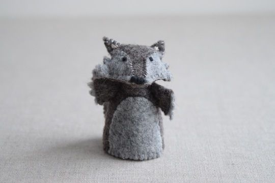 Download The Wolf - Finger Puppet Sewing Pattern - DIY Mini plushie pattern for felt Wolf from Red Riding Hood Soft Toy - Sewing Patterns immediately at Makerist