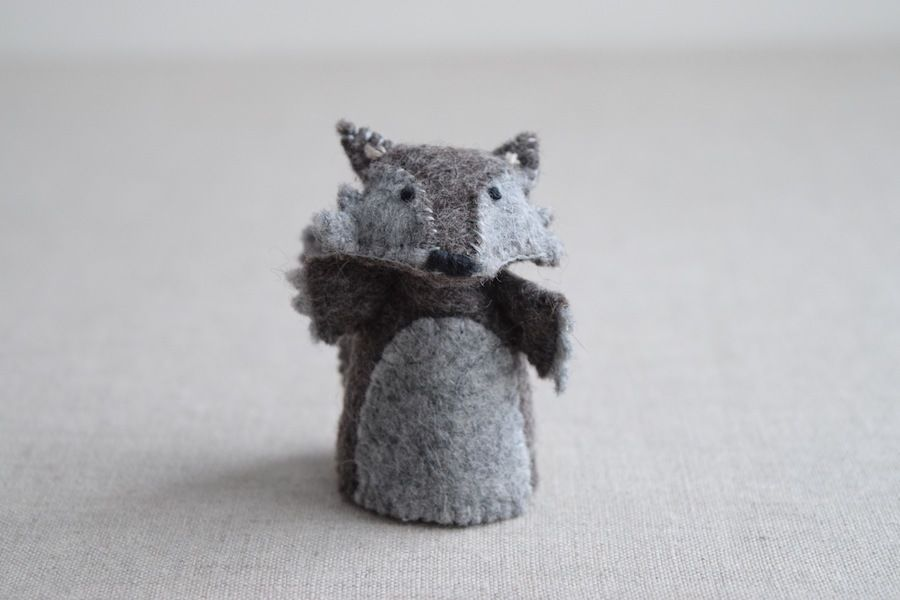 The Wolf - Finger Puppet Sewing Pattern - DIY Mini plushie pattern ...