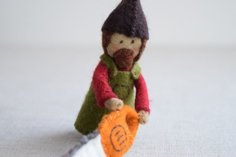 Download Woodsman Finger Puppet Sewing Pattern - DIY Mini plushie pattern for felt woodsman or woodswoman soft toy from Red Riding Hood - Sewing Patterns immediately at Makerist