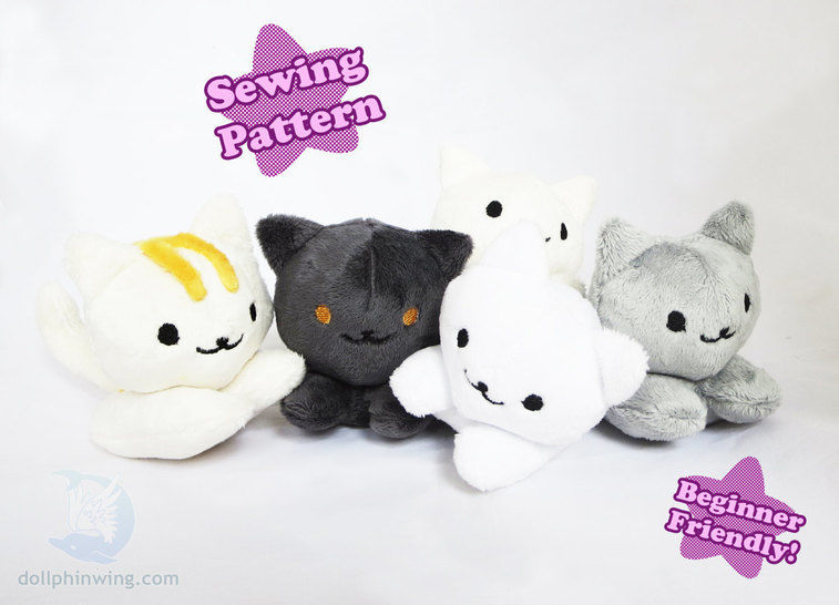 Cute Kitten Beanie Plush Pattern