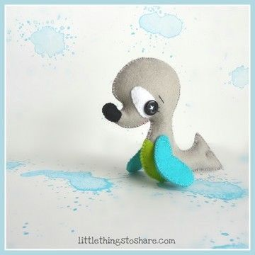 Download The Seal PDF pattern-Sea animals toy-DIY-Nursery decor-Instant download--Baby's mobile toy-Cute Seal-Felt Seal ornament-Ocean Animals toys - Sewing Patterns immediately at Makerist