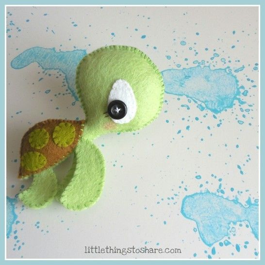 Download The Turtle pattern-Sea animals toy-DIY-Cute Sea turtle toy - Sewing Patterns immediately at Makerist