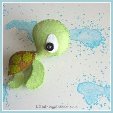 Download The Turtle PDF pattern-Sea animals toy-DIY-Nursery decor-Instant download-Baby's mobile toy-Cute Sea turtle toy-Felt turtle - Sewing Patterns immediately at Makerist