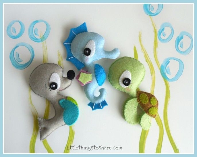 Download Sea Animals patterns-Seahorse, Seal, Turtle-Ocean Animals - Sewing Patterns immediately at Makerist