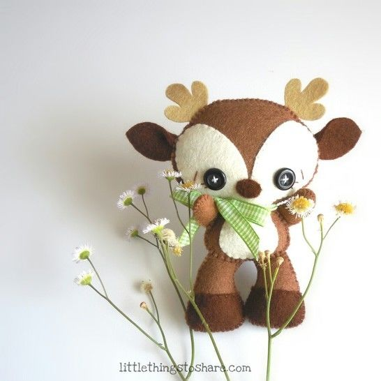 Download Brown Deer pattern, DIY, Nursery decor, deer toy - Sewing Patterns immediately at Makerist