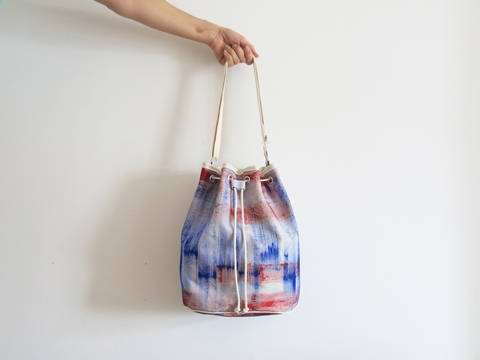 Tasche mit Kordelzug - Bucket Bag bei Makerist sofort runterladen