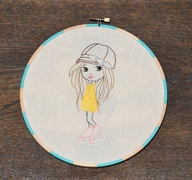 Download Let the Good Times Roll - Girl in Roller Skates, Hand Embroidery PDF Pattern - Embroidery Patterns immediately at Makerist