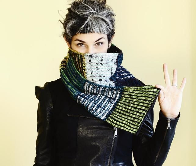 Download Modular 2 color Brioche Scarf - PDF knitting pattern - Knitting Patterns immediately at Makerist