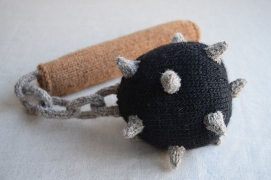 Download Ball and Chain Flail PDF Knitting Pattern - Medieval weapon - Knitting Patterns immediately at Makerist