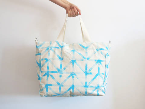 Wickeltasche oder City Shopper mit praktischen Taschen Außen und Innen bei Makerist sofort runterladen