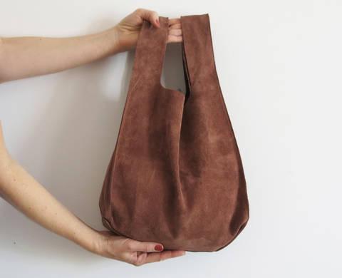 Einkaufstasche aus Leder oder Kunstleder bei Makerist sofort runterladen