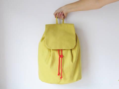Minimalistischer Rucksack No. 3 mit Kordelzug und verstellbaren Träger bei Makerist sofort runterladen