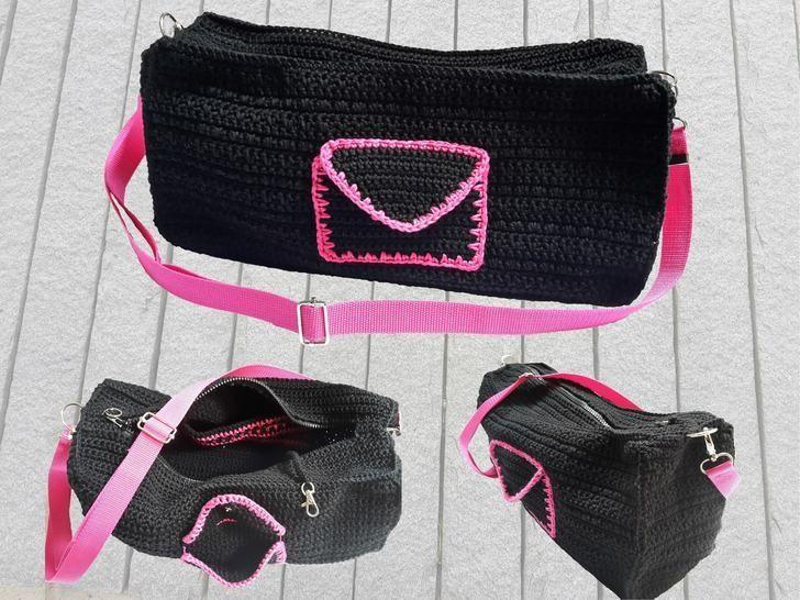 Handtasche Pink Night mit vielen Details – Häkelanleitung - Häkelanleitungen bei Makerist sofort runterladen