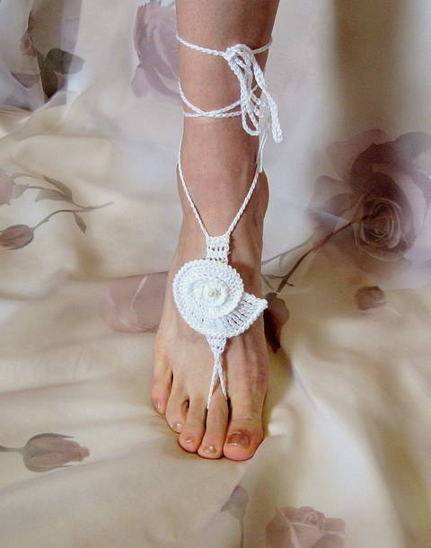 Download Barefoot Sandals, Sea Shell, Bridal, Summer, Beach Wedding, Yoga immediately at Makerist
