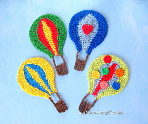 Download Hot Air Balloon Applique immediately at Makerist